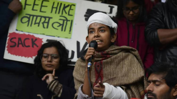 JNU students' president, injured in attack on campus, booked for vandalism